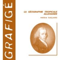 La géographie tropicale allemande