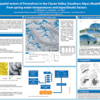 Spatial extent of Permafrost in the Clarée Valley (Southern Alps) : Modelling from spring water temperatures and topoclimatic factors