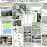 Recent hydrogeomorphological change (AD 1855 - 2005), control factors and fluvial risk on an upper alpine valley floor (Guil river, Southern French Alps)