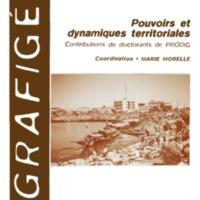 Pouvoirs et dynamiques territoriales. Contributions de doctorants de PRODIG