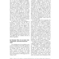 Le Concept Plan et sa vision des interactions hommes-environnement