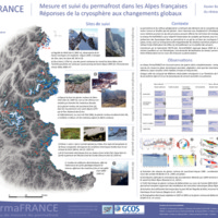 Mesure et suivi du permafrost dans les Alpes françaises. Réponses de la cryosphère aux changements globaux
