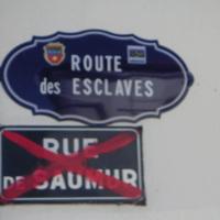 Guadeloupe. Panneau de rue